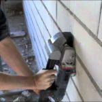 frezen in de muur stopcontact