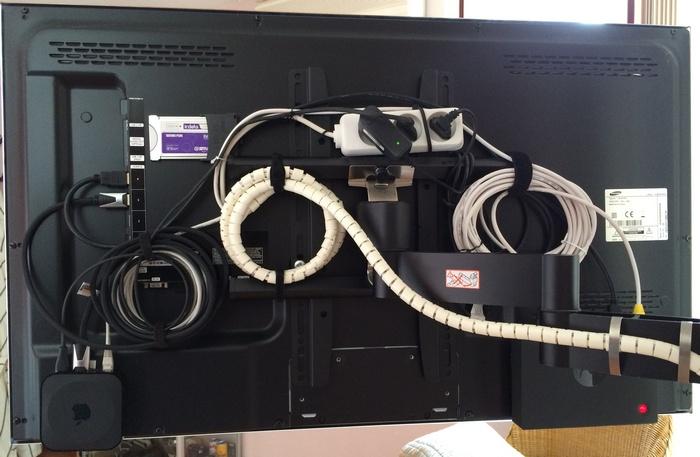 tv-Kabels-wegwerken